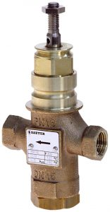 2-way valve with female thread, PN 16 (pn.)