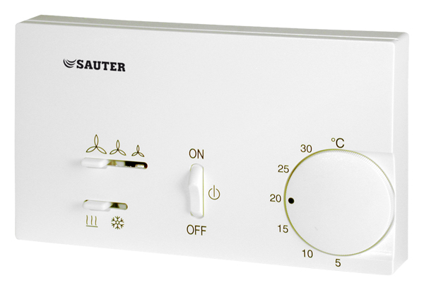 Fan-coil room-temperature controller, electromechanical