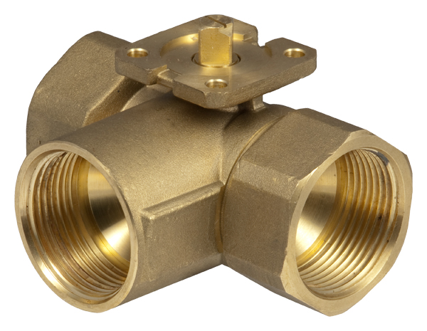 3-way change-over ball valve (L) with female thread, PN 40